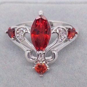 Ruby Tiara Ring